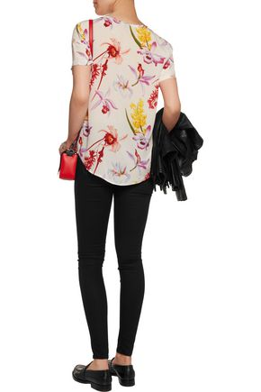 EQUIPMENT FEMME Riley floral-print silk top