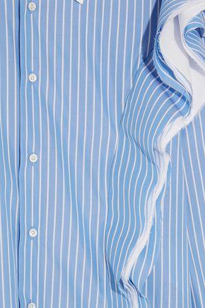 MAISON MARGIELA Ruffled striped cotton-poplin shirt