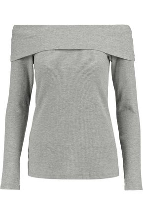 SPLENDID Off-the-shoulder stretch Supima cotton and modal-blend top