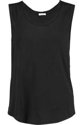 SPLENDID Rib-paneled modal and Supima cotton-blend jersey tank