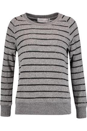 IRO Lourdes striped marled cotton-blend sweater ...