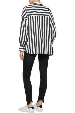 IRO Tamara striped cotton-blend shirt