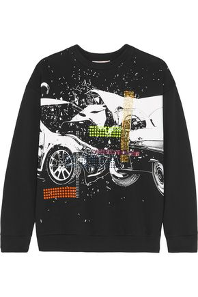 CHRISTOPHER KANE Printed cotton-jersey sweatshirt