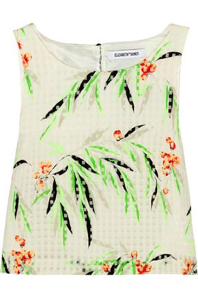 ELIZABETH AND JAMES Terri cropped printed organza top