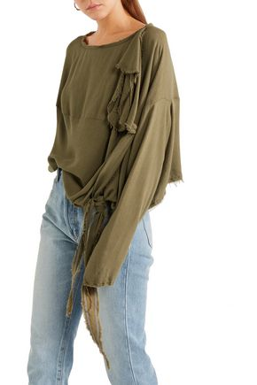 VIVIENNE WESTWOOD ANGLOMANIA Balloon frayed crepe blouse