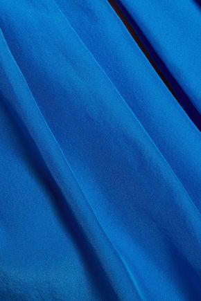 EMILIO PUCCI Pleated silk-satin top