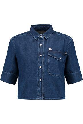 ÊTRE CÉCILE Embellished cropped denim shirt