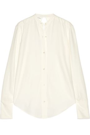 HELMUT LANG Knot-detailed open-back twill shirt