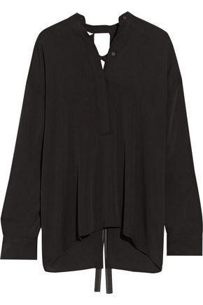 HELMUT LANG Open-back stretch-silk blouse