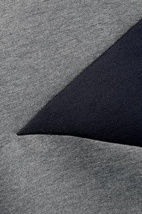 DKNY Two-tone stretch-knit sweatshirt