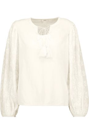 TALITHA Salma embroidered cotton-broadcloth blouse