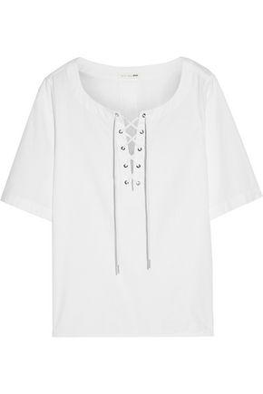 RAG & BONE Lace-up cotton-twill top