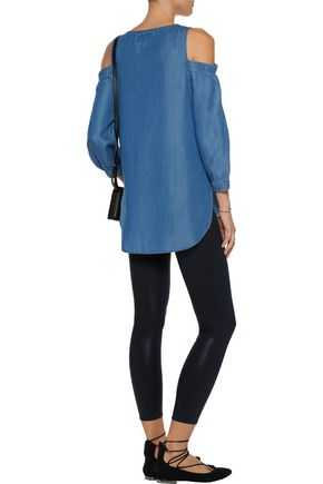 W118 by WALTER BAKER Courtney cutout chambray top