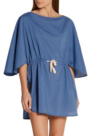 SOLID & STRIPED + Poppy Delevingne cotton-chambray tunic