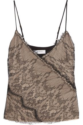 BAILEY 44 Rose Leavers lace and crepe de chine camisole