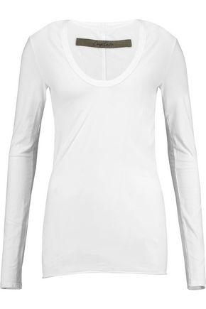 ENZA COSTA Stretch-cotton jersey top