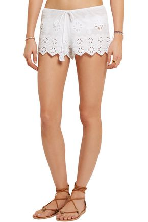 MIGUELINA Minnie broderie anglaise cotton shorts