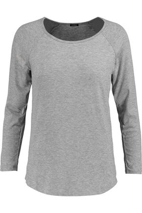 MONROW Ribbed stretch-jersey top