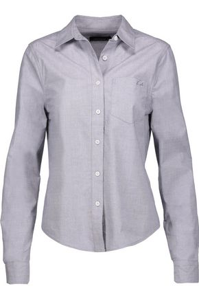 EQUIPMENT + Kate Moss London cotton-poplin shirt