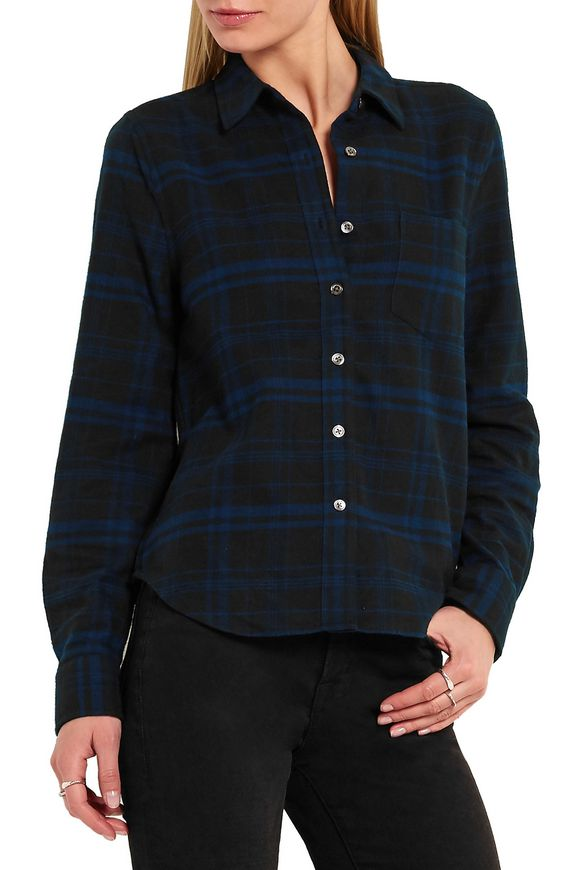 + Kate Moss London checked brushed-cotton shirt | EQUIPMENT | Sale up to  70% off | THE OUTNET