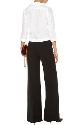 EQUIPMENT + Kate Moss Lake washed-silk pajama top