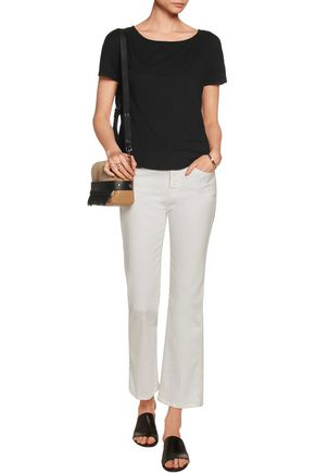 SPLENDID Cutout draped Micro Modal and Supima cotton-blend T-shirt