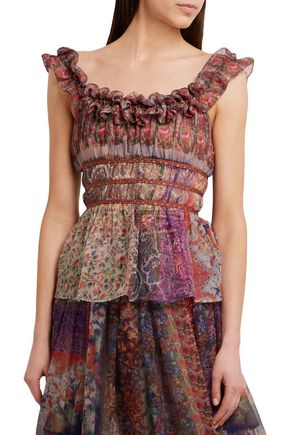 ETRO Printed silk-chiffon top