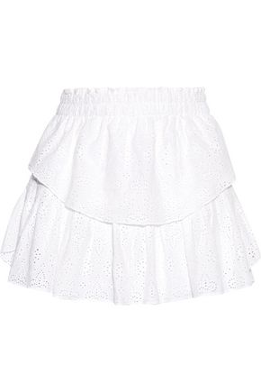 LOVESHACKFANCY Broderie anglaise cotton skirt