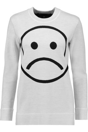 MARC BY MARC JACOBS Sad Face intarsia merino wool sweater
