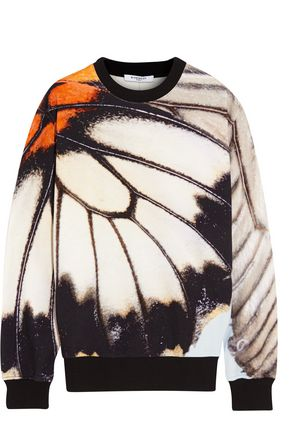 GIVENCHY Printed cotton-terry sweatshirt