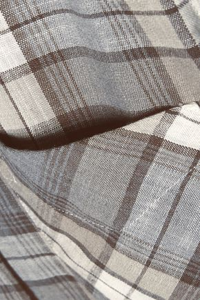 CURRENT/ELLIOTT The Slim Boy checked canvas shirt