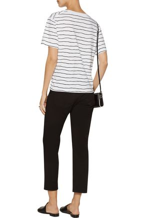 LA LIGNE Striped modal and cotton-blend T-shirt