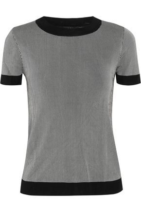 RAG & BONE Lelia striped ribbed-knit top