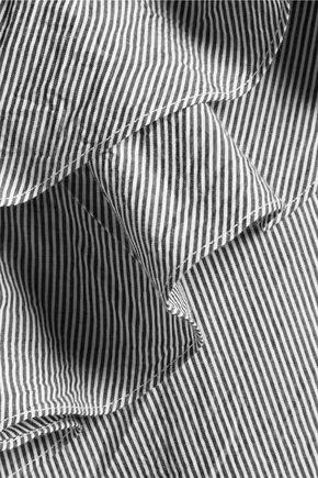 W118 by WALTER BAKER Dorothy one-shoulder cotton-poplin top