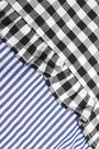 W118 by WALTER BAKER Marvin cutout checked and striped cotton top