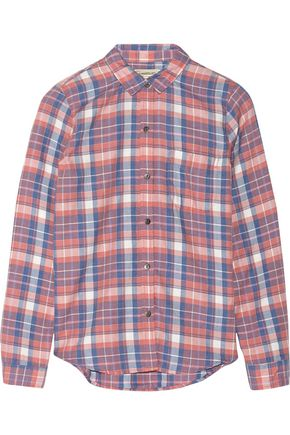 CURRENT/ELLIOTT The Slim Boy plaid flannel shirt