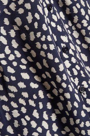 JOIE Edalette tie-front printed silk top