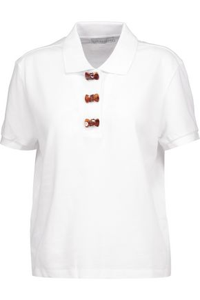 J.W.ANDERSON Embellished cotton-piqué polo shirt
