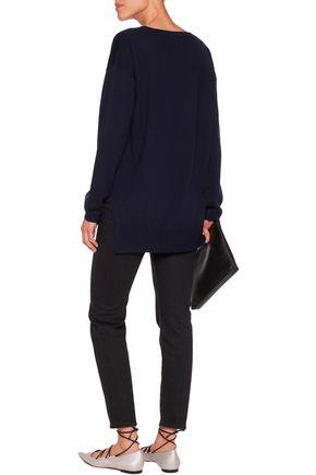 MARKUS LUPFER Embellished intarsia-knit merino wool sweater