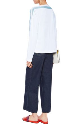 MSGM Ribbed-trimmed stretch-twill top