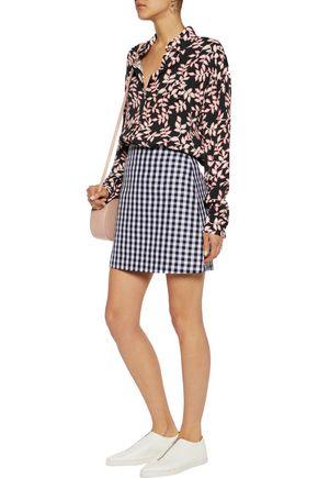 MSGM Printed crepe blouse