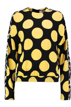 MSGM Polka-dot crepe top