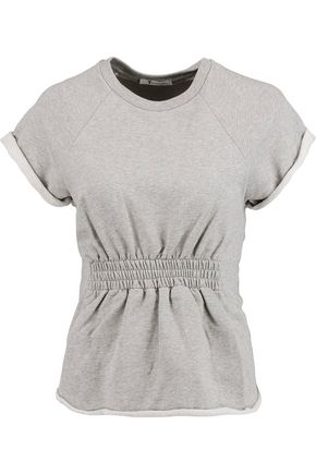 T by ALEXANDER WANG Gathered French cotton-terry top