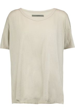 ENZA COSTA Cotton-jersey T-shirt