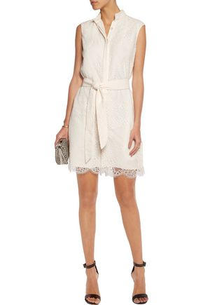 MARIA GRACHVOGEL Habren belted lace playsuit