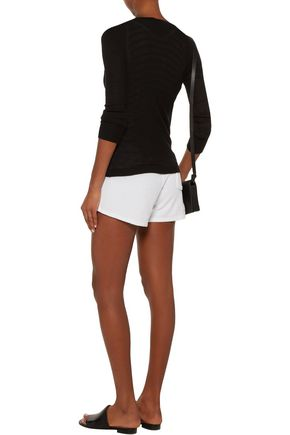 MAJESTIC Cotton and modal-blend terry shorts