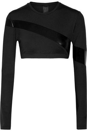 NORMA KAMALI Paneled jersey top