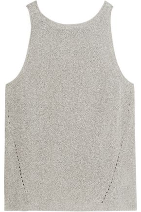 ENZA COSTA Pointelle-knit cotton-blend tank