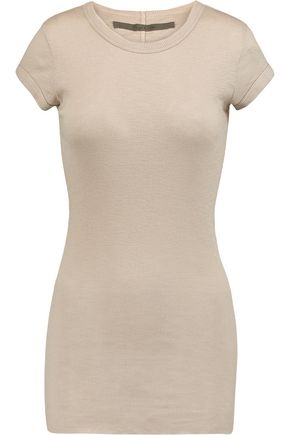 ENZA COSTA Ribbed cotton T-shirt