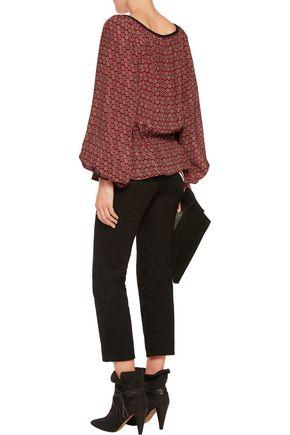 TALITHA Gia printed silk blouse